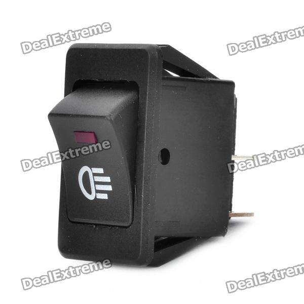 Car Fog Light Switch with Red LED Indicator (12V) bqlzr dc12 24v black push button switch with connector wire s ot on off fog led light for toyota old style