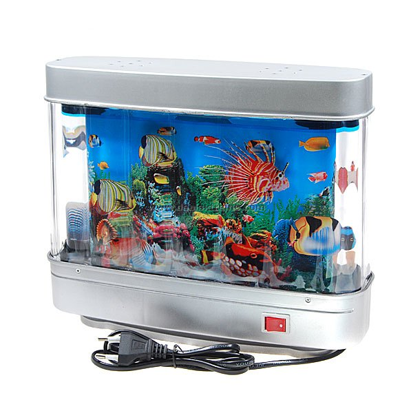 2 in 1 mini aquarium with lamp free shipping dealextreme