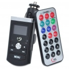 "1.0"" LCD Car MP3 Player FM Transmitter w/ Remote Controller/USB/SD Slot - Black (DC 12~24V)"