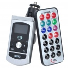 "1.0"" LCD Car MP3 Player FM Transmitter w/ Remote Controller/USB/SD Slot - Silver (DC 12~24V)"