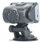 "Vehicle 2.0"" TFT 5.0MP CMOS HD DVR Video Recorder Camera w/ 8-LED IR Night Vision/TF Slot - Black"