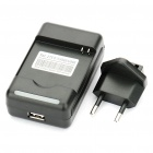 Compact Battery Charging Dock with EU Plug Adapter for ZTE V880/U880 - Black (US Plug)