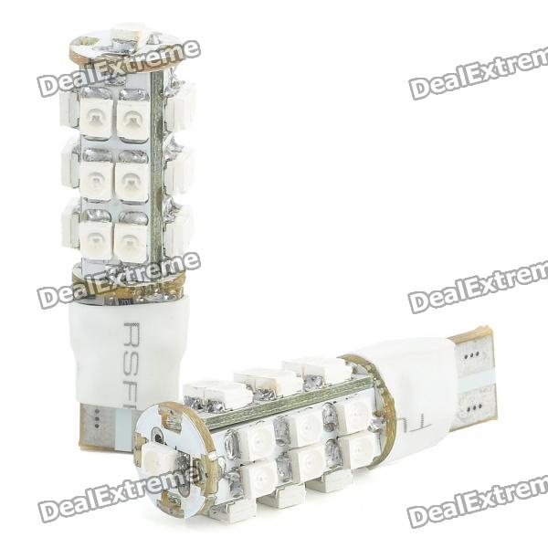T10 1.5W 25-SMD 3528 LED 100LM 465-470nm Blue Light Bulbs voor auto (2-delig pak)
