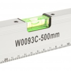 Alliage professionnel 500mm magnétique aluminium souverain w / 3 Bubble Spirit Level Gradienters