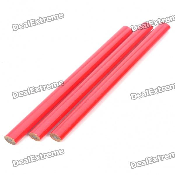 Carpenter Flat Pencil - Red (3 Piece Pack)
