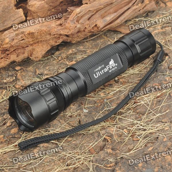 Ultrafire Flashlight Aluminum Alloy Casing/Shell/Housing with Strap - Black от DX.com INT
