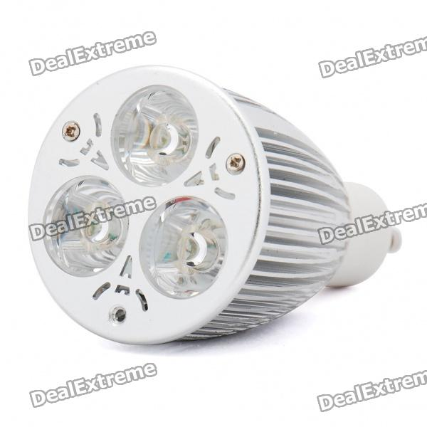 GU10 6W 3-LED 220LM 2700-3500K Warm White Light Lamp Bulb - Silver + White