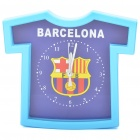 Barcelona Soccer Team Shirt Style Alarm Clock - Deep Blue + Light Blue (1 x AA)