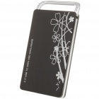 "Aluminum Alloy USB 2.0 2.5"" SATA HDD Enclosure - Black"