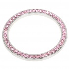 Car Decorative Rhinestone Stick for Engine Start - Silver + Pink