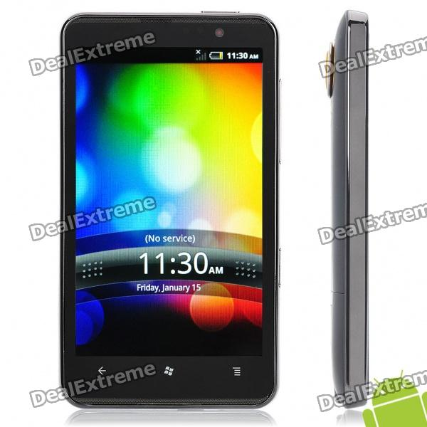"H7300 4.3"" Capacitive Gingerbread Dual SIM WCDMA 3G Cell Phone w/ GPS + Wi-Fi + G-Sensor"