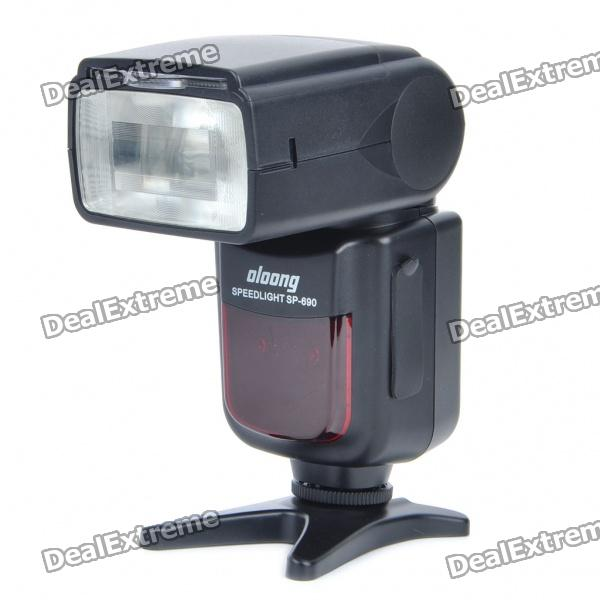 OLOONG SP-690C Flash Speedlite Speedlight for Canon DSLR (4xAA) yn565ex 2 1 lcd flash speedlite speedlight for nikon d700 more 4 x aa not included