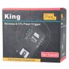 PIXEL KING RX Wireless E-TTL Flash Trigger Single Receiver for Canon DSLR (2 x AA)