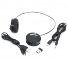 Rapoo H3050 2.4GHz Wireless Stereo Headset Headphone with Microphone & Transmitter - Black