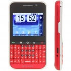 "F605 2,4 ""Android Touchscreen Dual SIM Quadband Handy GSM w / WiFi und GPS - Red"