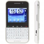 "F605 2.4"" Android Touch Screen Dual SIM Quadband GSM Cell Phone w/ WiFi and GPS - White"