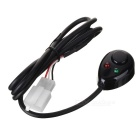 Universal Wired Remote Control Switch for Car LED Lamp - Black (DC 12V/140cm-Cable)
