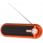 Portable Fashion Stereo Music Speaker Player with FM/SD/MMC/USB - Orange