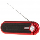 Portable Fashion Stereo Music Speaker Player with FM/SD/MMC/USB - Red