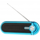 Portable Fashion Stereo Music Speaker Player with FM/SD/MMC/USB - Blue