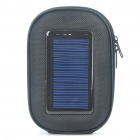 Portable Solar/USB Powered 1000mAh Emergency Battery Case w/ Charging Adapters for Cell Phone
