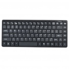 87-Key Bluetooth V2.0 Wireless QWERT Keyboard + Silicone Protective Keyboard Cover - Black (2 x AAA)