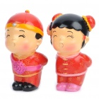 Chinese Style Magnetic Kissing Couple Dolls (Pair)