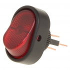 ST0413 Boat Shaped Switch with Red Indicator (Vehicle DIY)