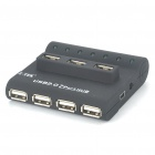 Z-TEK USB/AC Powered USB 2.0 7-Port Hub - Black