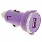 Stylish Compact Car Cigarette Powered Charging Adapter Charger - Purple (12~24V)