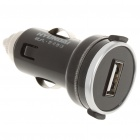 Stylish Compact Car Cigarette Powered Charging Adapter Charger - Black (12~24V)