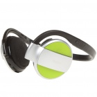 Wireless Bluetooth V2.1 Stereo Headset Headphone with TF Slot - Green + Silver + Black