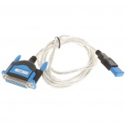 USB to Parallel Cable - Blue + Black (1.8M)