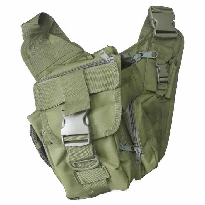 Military Outdoor Oxford Cloth Storage Bag with Gun Holster - Army Green