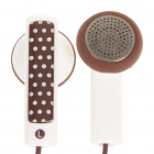 Stylish Earphone with Microphone for Iphone  - Coffee + White (3.5MM-Jack)