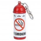 Portable Mini Fire Extinguisher Style Ashtray with Flat Base - Red