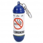 Portable Mini Fire Extinguisher Style Ashtray with Round Base - Blue