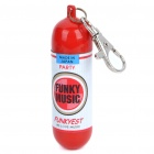 Portable Mini Fire Extinguisher Style Ashtray with Round Base - Red