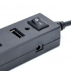 7-Port Hub USB 2.0 com adaptador de energia - Black