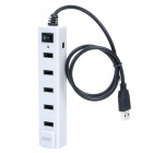 7-Port USB 2.0 Hub with Power Adapter - White