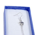 Silver Dangling Star Earing with Clear Stone
