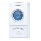 38-Melody Wireless Door Bell with Double-Receiver (220~240V/2-Flat-Pin Plug)