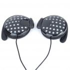 Star Style Ear-Hook Earphone - Black (3.5mm-Jack/1M-Cable)