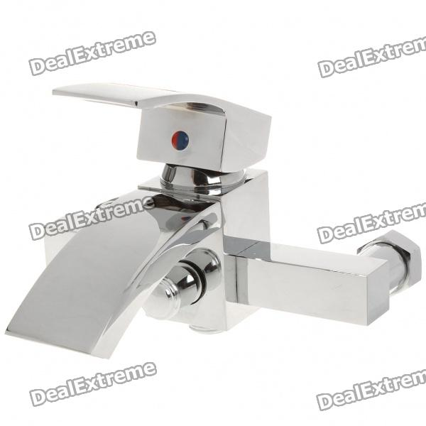 Modern Brass Waterfall Wall-mount Faucet wall mount single handle bath shower faucet with handshower antique brass bathroom shower mixer tap