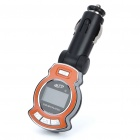 "1.0"" LCD Car MP3 Player FM Transmitter w/ Remote Controller/USB/TF Slot - Orange (DC 12V)"
