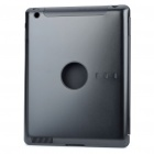 Protective Aluminum Alloy Back Case for iPad 2 - Black