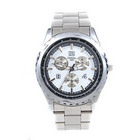 Silver Metal Men's Quartz Wrist Watch