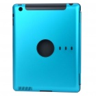 Protective Aluminum Alloy Back Case for iPad 2 - Blue