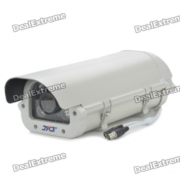 Water Resistant IR Surveillance Security Camera with 4-LED Night Vision - White (16mm Lens)