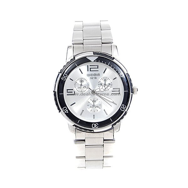 Silver Metal Men's Wrist Watch